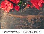 valentine's day background ... | Shutterstock . vector #1287821476