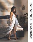 beautiful sensual woman... | Shutterstock . vector #1287822823