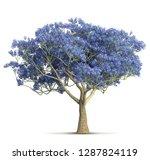 spring violet bloom tree... | Shutterstock . vector #1287824119