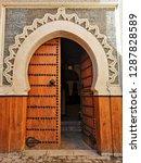 ornate moroccan door | Shutterstock . vector #1287828589
