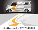 wrap car racing designs and... | Shutterstock .eps vector #1287834823