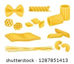 flat vector set of italian... | Shutterstock .eps vector #1287851413