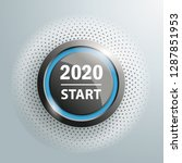 button with text 2020 start on...   Shutterstock .eps vector #1287851953