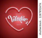 happy valentine's day vector... | Shutterstock .eps vector #1287852676