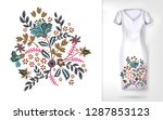 embroidery colorful trend... | Shutterstock .eps vector #1287853123