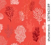 living corals and seaweed in...   Shutterstock .eps vector #1287862189