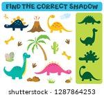 find the correct shadow ... | Shutterstock .eps vector #1287864253