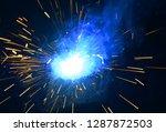 welding argon welding splatter... | Shutterstock . vector #1287872503