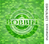 bobbin green emblem with mosaic ... | Shutterstock .eps vector #1287876403