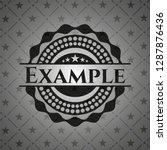 example realistic black emblem | Shutterstock .eps vector #1287876436