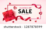 valentine's day sale design... | Shutterstock .eps vector #1287878599