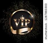 abstract luxury vip members... | Shutterstock .eps vector #1287883303