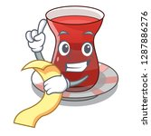 with menu turkish tea in the... | Shutterstock .eps vector #1287886276