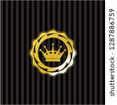 queen crown icon inside shiny... | Shutterstock .eps vector #1287886759