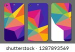 set fashionable abstract... | Shutterstock .eps vector #1287893569