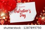 happy saint valentine's day... | Shutterstock .eps vector #1287895750