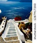 santorini island  greece  ... | Shutterstock . vector #1287917203
