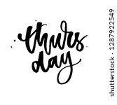 thursday  weekend is almost...   Shutterstock .eps vector #1287922549