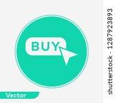 buy button vector icon sign...   Shutterstock .eps vector #1287923893