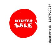 winter sale sign over art red... | Shutterstock .eps vector #1287927259