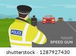 traffic police officer holding... | Shutterstock .eps vector #1287927430
