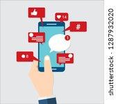 viral content  social media...   Shutterstock .eps vector #1287932020