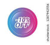 glossy label with text   10 ...   Shutterstock .eps vector #1287942556