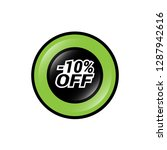glossy label with text   10 ...   Shutterstock .eps vector #1287942616
