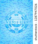 verified sky blue emblem with... | Shutterstock .eps vector #1287947026