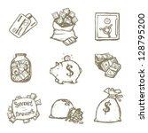 money illustration set | Shutterstock .eps vector #128795200