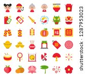 chinese lunar new year icon...   Shutterstock .eps vector #1287953023