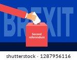brexit   second referendum  ... | Shutterstock .eps vector #1287956116