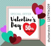 special offer 50  off sale for... | Shutterstock .eps vector #1287956209