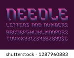 needle letters and numbers with ...   Shutterstock .eps vector #1287960883