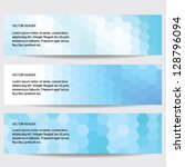 abstract header blue  vector...   Shutterstock .eps vector #128796094