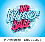 big winter sale lettering... | Shutterstock .eps vector #1287961876
