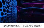 abstract  concrete futuristic... | Shutterstock . vector #1287974506
