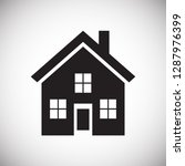 home icon on white background...   Shutterstock .eps vector #1287976399