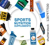 sports nutrition supplement... | Shutterstock .eps vector #1287977530