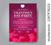 love romance. valentine's day... | Shutterstock .eps vector #1287978223
