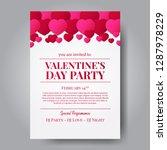 love romance. valentine's day... | Shutterstock .eps vector #1287978229