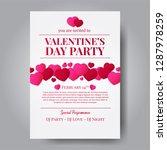 love romance. valentine's day... | Shutterstock .eps vector #1287978259