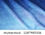 crease fabric  gene  blue       ... | Shutterstock . vector #1287985336