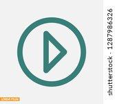 play video vector icon   Shutterstock .eps vector #1287986326