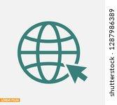 internet icon vector | Shutterstock .eps vector #1287986389