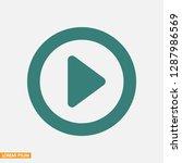 button player vector icon | Shutterstock .eps vector #1287986569