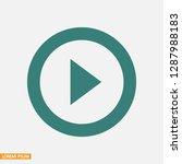 button player vector icon   Shutterstock .eps vector #1287988183