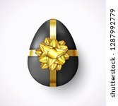 3d easter egg tied of gold... | Shutterstock .eps vector #1287992779