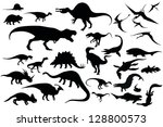 dinosaur | Shutterstock .eps vector #128800573
