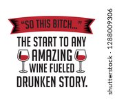 wine funny quote and saying.... | Shutterstock .eps vector #1288009306